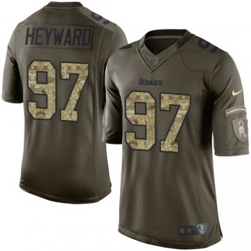 Men's Cameron Heyward Pittsburgh Steelers Nike Limited Salute to Service Jersey - Green