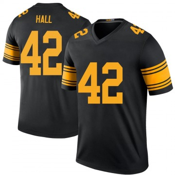 Men's Darrin Hall Pittsburgh Steelers Nike Legend Color Rush Jersey - Black