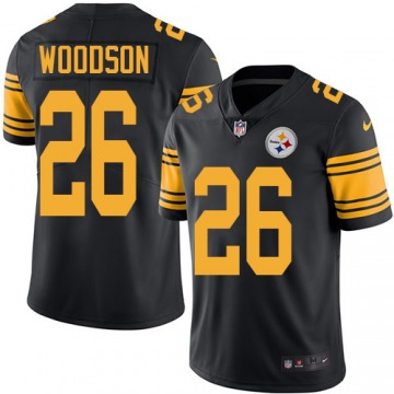 Men's Rod Woodson Pittsburgh Steelers Nike Limited Color Rush Jersey - Black