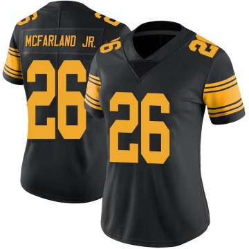 Women's Anthony McFarland Jr. Pittsburgh Steelers Nike Limited Color Rush Jersey - Black