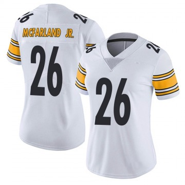 Women's Anthony McFarland Jr. Pittsburgh Steelers Nike Limited Vapor Untouchable Jersey - White