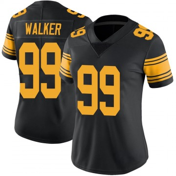 Women's Cavon Walker Pittsburgh Steelers Nike Limited Color Rush Jersey - Black