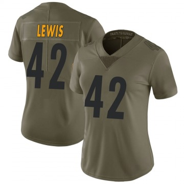 Women's Leo Lewis Pittsburgh Steelers Nike Limited 2017 Salute to Service Jersey - Green