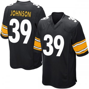 Youth Brandon Johnson Pittsburgh Steelers Nike Game Team Color Jersey - Black