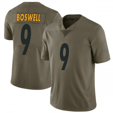 Youth Chris Boswell Pittsburgh Steelers Nike Limited 2017 Salute to Service Jersey - Green
