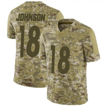 Youth Diontae Johnson Pittsburgh Steelers Nike Limited 2018 Salute to Service Jersey - Camo
