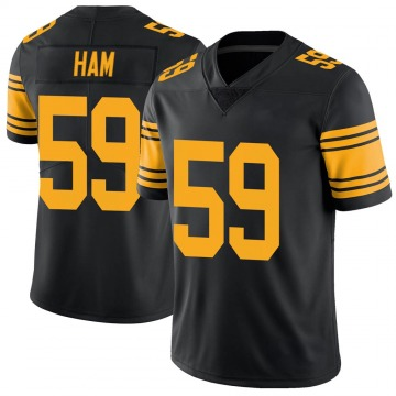 Youth Jack Ham Pittsburgh Steelers Nike Limited Color Rush Jersey - Black